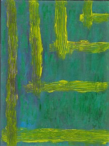 yellow lines on green